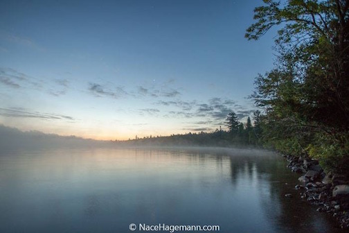 Early morning fog by Nace Hagemann.