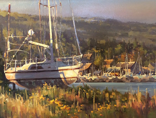 """End of the Season"" by Dan Mondloch. This painting won First Place and the People's Choice Award."