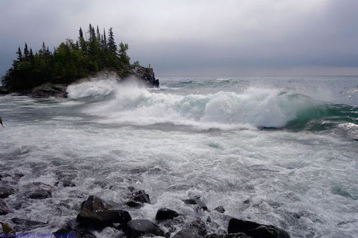 Stormy day on Superior by Sandra Updyke.