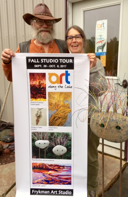 Steve and Sharon Frykman are opening a new art gallery at their studio in rural Grand Marais for the Fall Studio Art Tour.