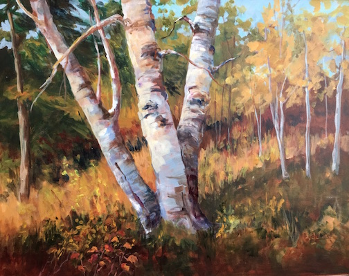 Painting by Barb Lundell. She will exhibit at Tettegouche State Park through October.