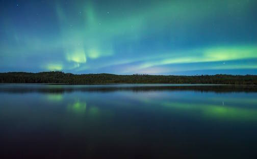 Northern Lights by Thomas Spence. This photo is being used for a story in Backpacker Magazine.
