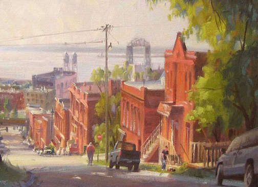 One of the plein air paintings currently on exhibit at the Tweed Museum of Art.