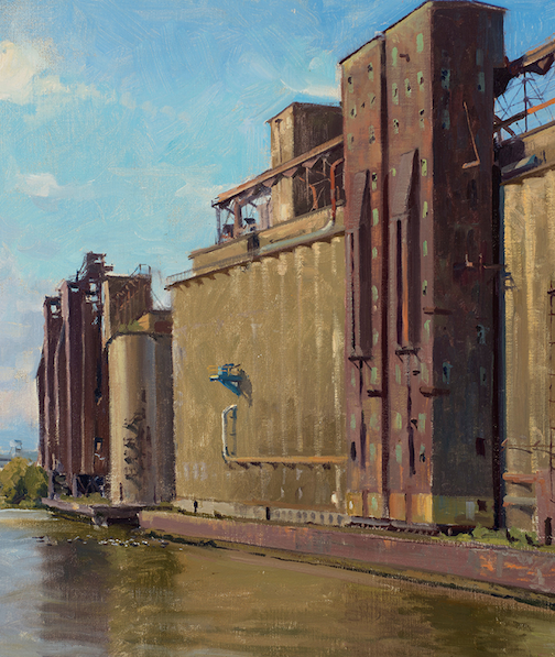 "One of the paintings from ""The Industrial Landscape"" which opens at the Tweed Museum of Art on Friday."