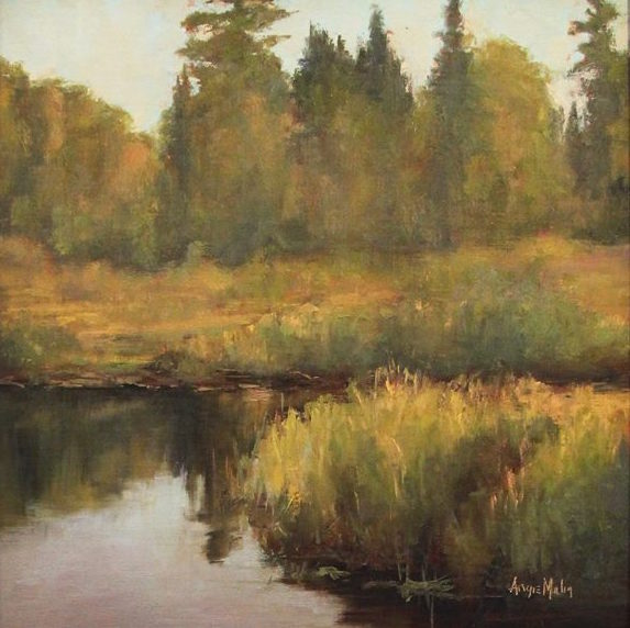 This painting by Angie Malin won the Open Class in the Plein Air Competition.