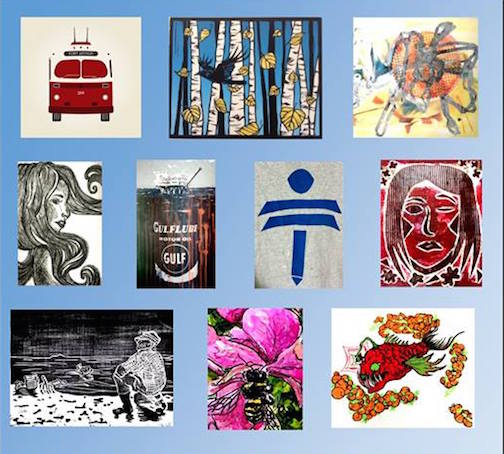 "The ""Making an Impression"" printmaking exhibit is at the Baggage Building Arts Centre in Thunder Bay."