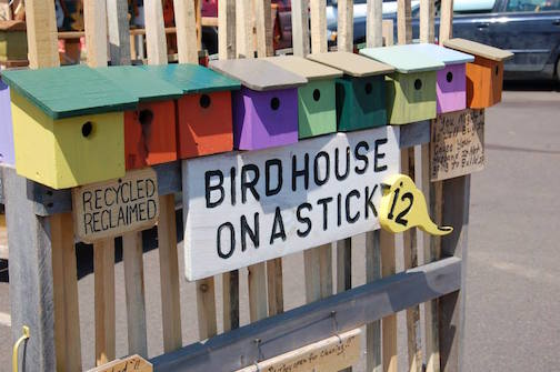 birdhouse on a stick
