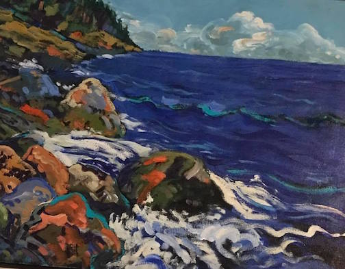 Douglas Ross has new work at Kah-Nee-Tah Gallery in Lutsen.