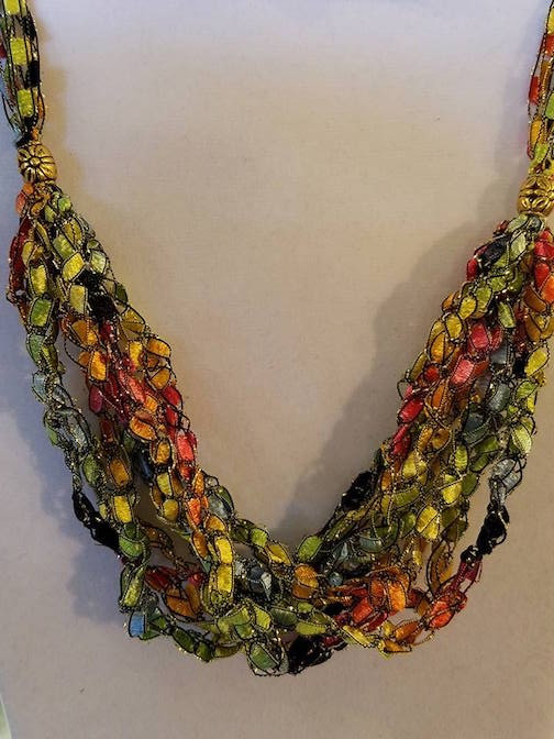 Nancy Haarmeyer has beaded necklaces at Joy & Co.