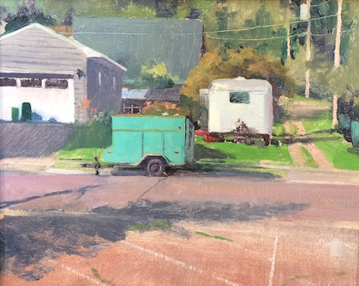 "Mike Rada's ""It's Just Lunch"" is one of the paintings on exhibit for Plein Air 2017 at the Johnson Heritage Post."