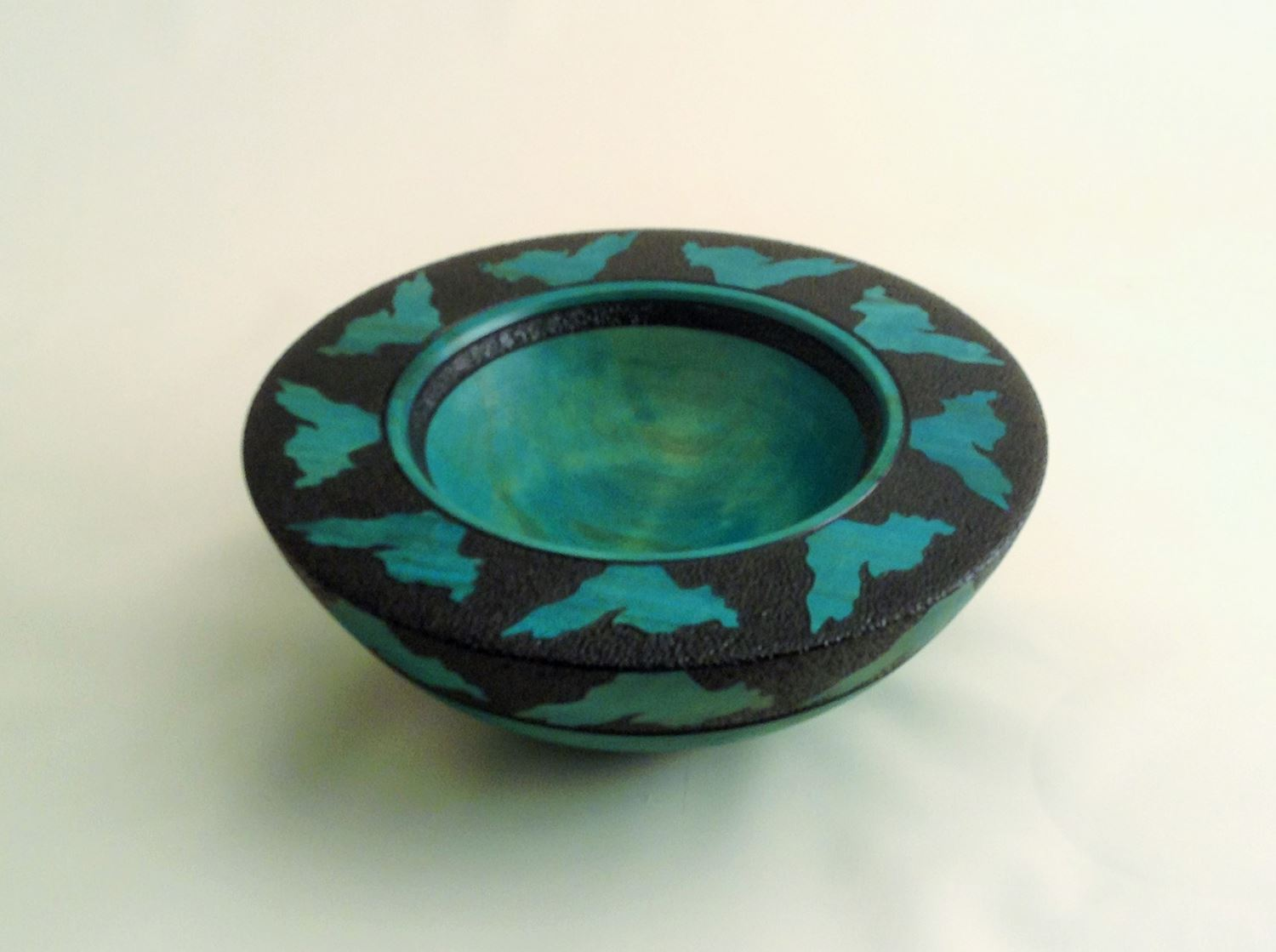 This bowl by Robb Glibbery is one of the works on exhibit at the Duluth Art Institute.