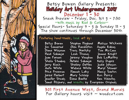The Holiday Art Underground opens with a sneak preview on Friday night.