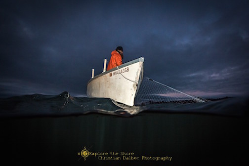 Lake Superior commercial fisherman by Christian Dalbec.