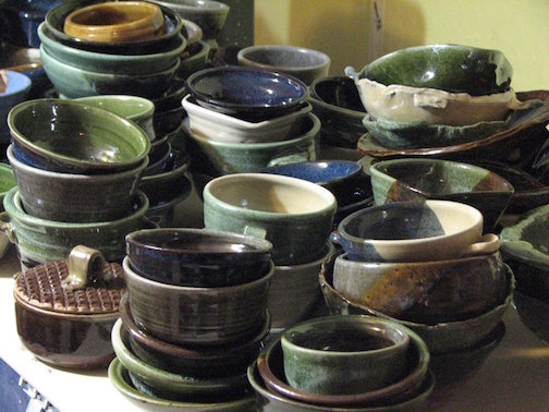 Stoneware bowls will also be at the Empty Bowls fundraiser.