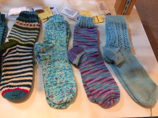 Fran Koscielak has handknit socks at the Johnson Heritage Post.