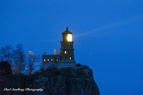 Split Rock Beacon Lighting Nov. 12 by Paul Sundberg.