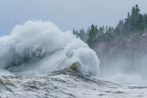 Paul Sundberg took this shot of roaring waves on Lake Superior at Crystal Bay in Tettegouche State Park.