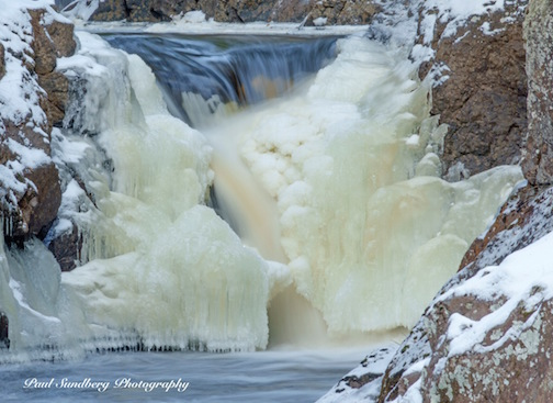Paul Sundberg took this beauty of the freezing falls on the Cascade River. Enjoy!