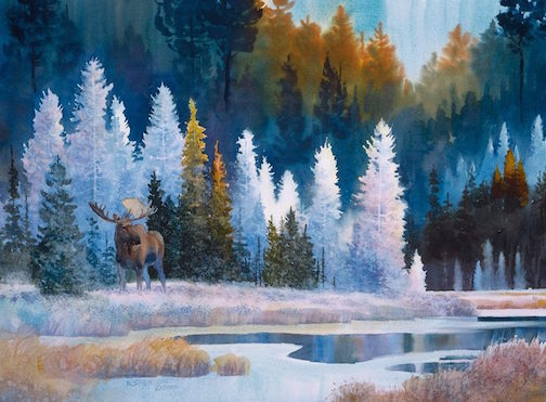 """Frost on Fiddle Creek"" by Howard Sivertson, giclee, is at Sivertson Gallery."