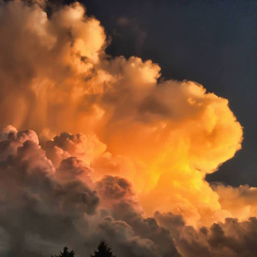 Sunset cloud by Steve Ortmann.