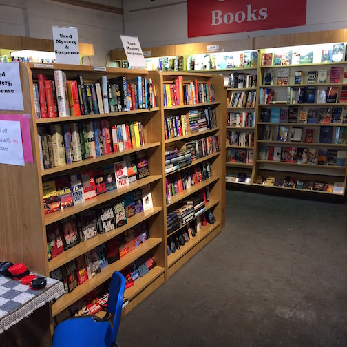 There is a great selection of used books  at Birchbark Books & Gifts.