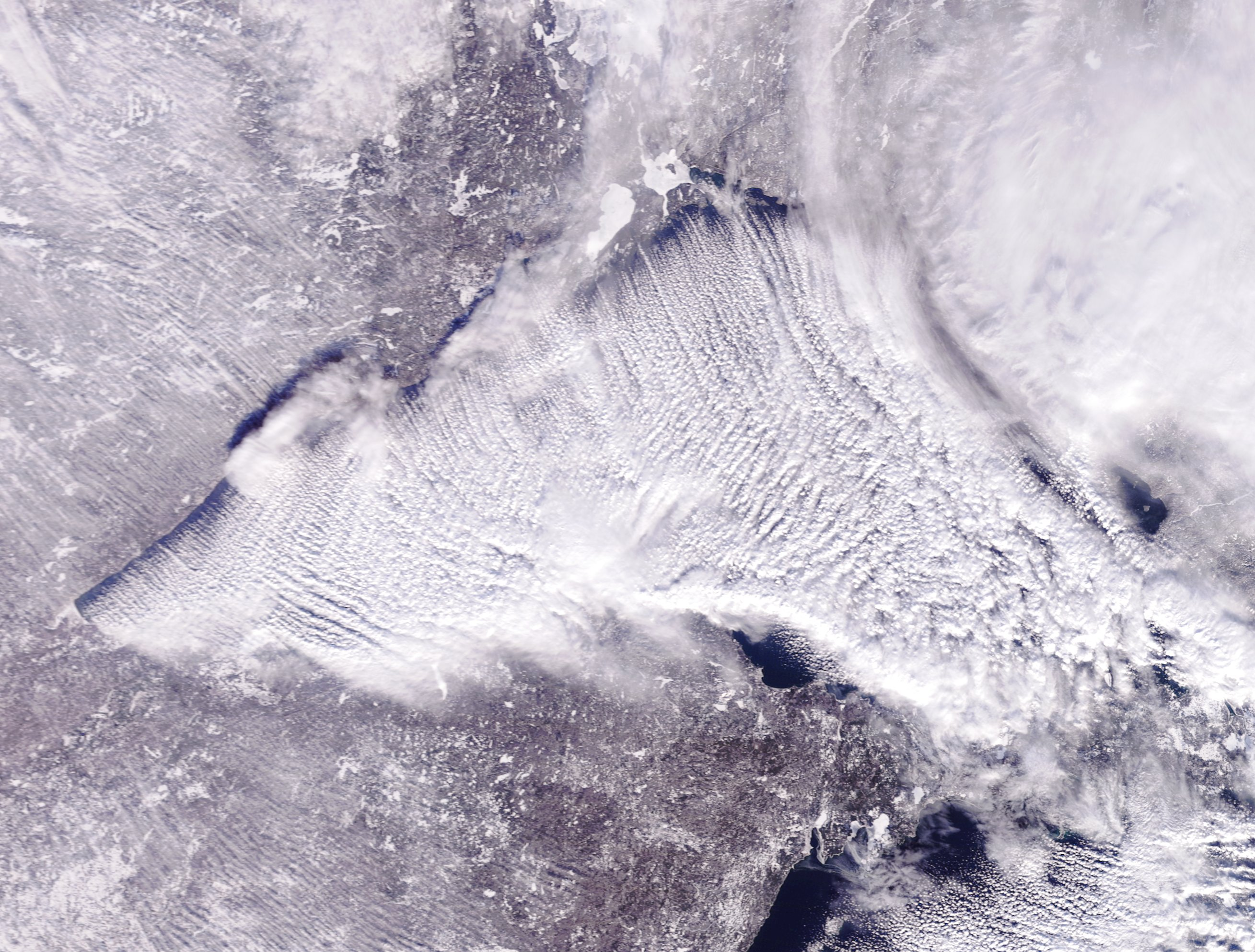 Lake Superior Dec. 27, satellite photo by NOAA.