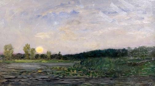 """Moonrise,"" c. 1859 by Charles Francois Daubigny."