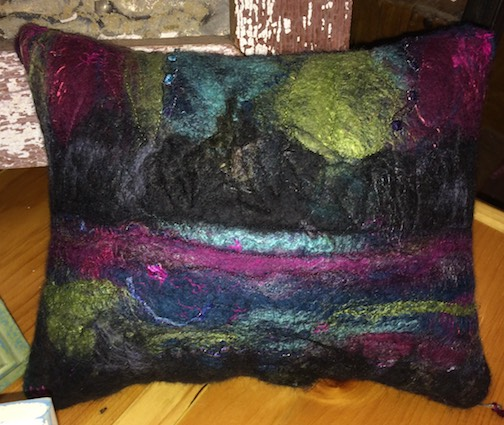 joy carol holmblad northernlights pillow