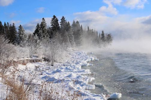Amazing sea smoke by Jane Herrick.