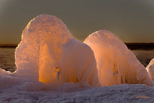 Lake Superior Igloos by Kirk Schleife.