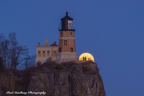 Super Moon at Split Rock Lighthouse.