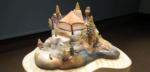 """Orwell's Tent,"" by Denise Smith, porcelain."