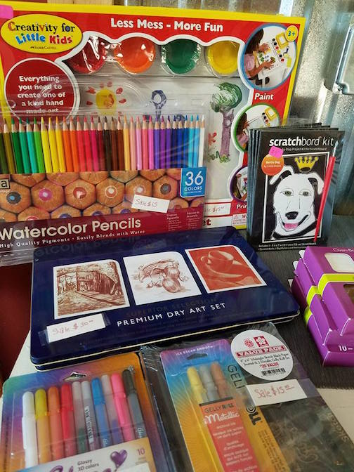 A small selection of the art supplies available at Joy and Company.