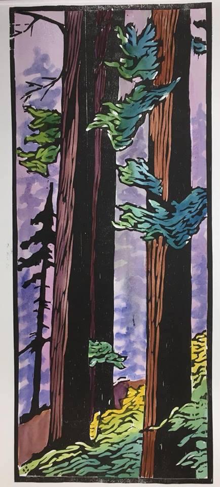 Print by Betsy Bowen.