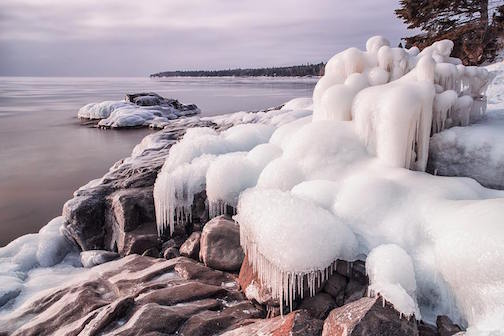 Ice near the mouth of the Cascade River by Ken Harmon.