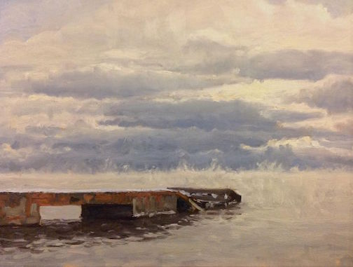 """January on the Hovland Dock"" by Neil Sherman."