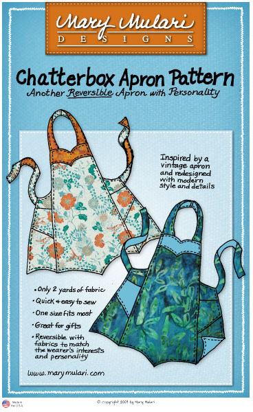 Mary Mulari creates patterns for vintage-style aprons and will give a presentation at the library on Wednesday.