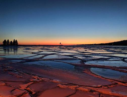 Grand Marais sunset by Amanda Plummer.