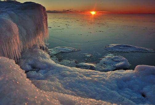 Morning Ice by Gregory A. Isrealson.