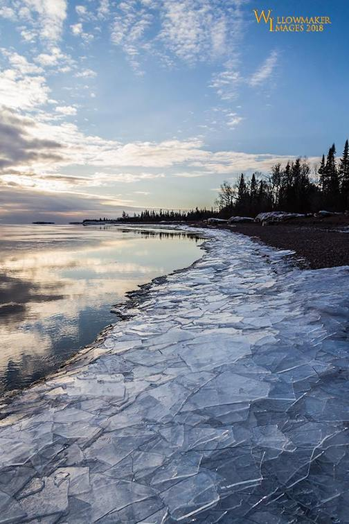 Plate Ice near Grand Portage by Jamie Rabold.