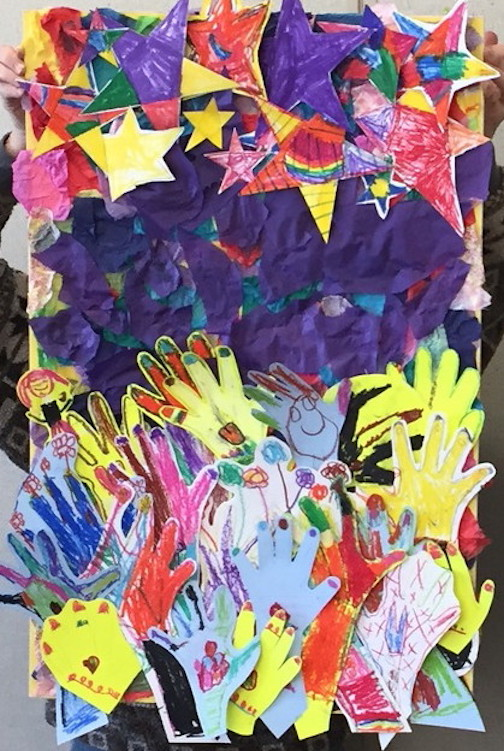 """Reach for the Stars"" by the kindergarten group at William Kelly Elementary School, is one of the pieces in the show at Tettegouche which opens March 9."