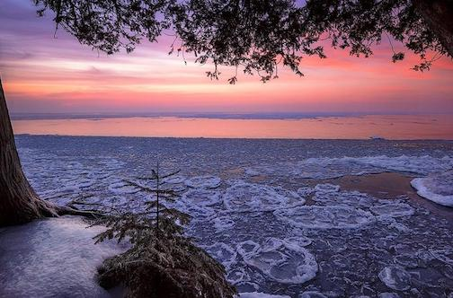 Winter Sunrise from Big Bay State Park by Michael DeWitt.