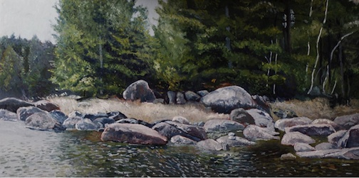 This painting by Joel Lewis is one of the works to be exhibited in the upcoming show at the Johnson Heritage Post.