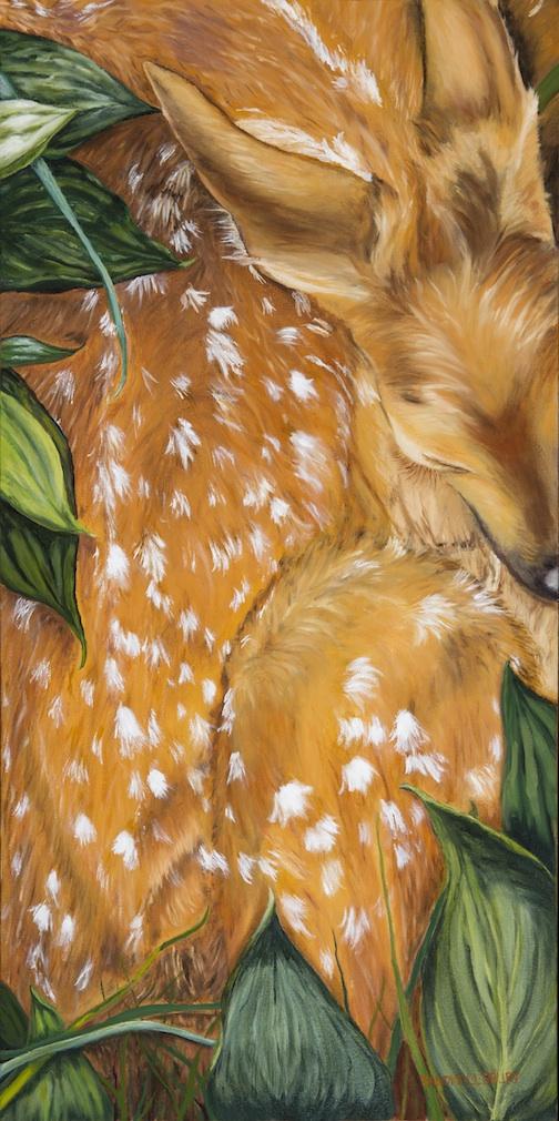 """Fawn"" by Sandi Pillsbury-Gredzens. Acrylic."