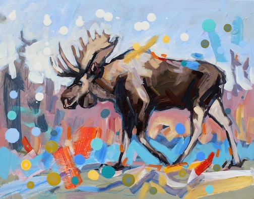 "Adam Swanson will teach ""How to Paint a Moose"" at the Duluth Art Institute April 12."