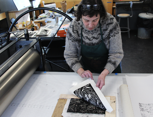 Printmaker Gabriella Boros will give an artist talk and demo at 12:30 p.m. Saturday at the Grand Marais Art Colony.
