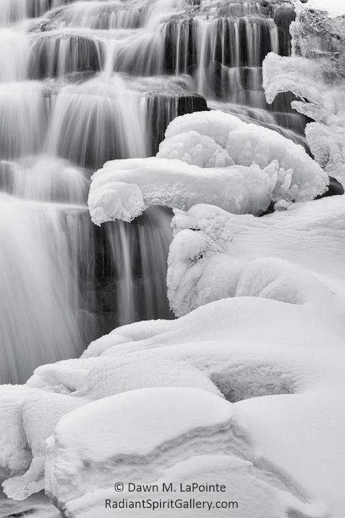 Ice falls in the UP by Dawn LaPointe.