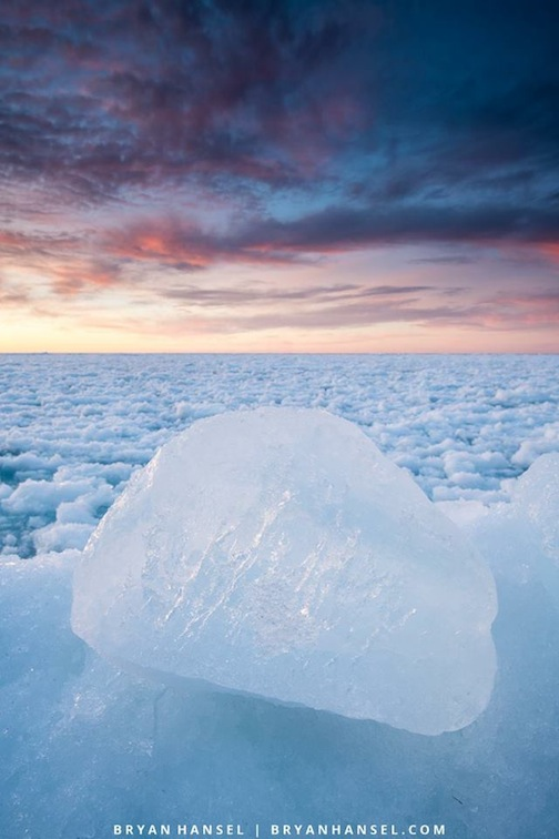 Lake ice--Superior by Bryan Hansel.