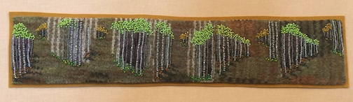 """Many Paths,"" bead painting by Jo Wood."