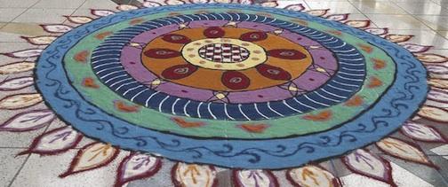 A Rangoli sand painting.
